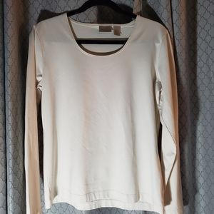 CHICO'S OFF White Long  SleeveTop